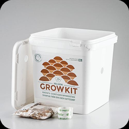Helsieni Growkit XL | Helsieni. Helsieni Growkit on tee-se-itse osterivinokas sientenkasvatusalusta.