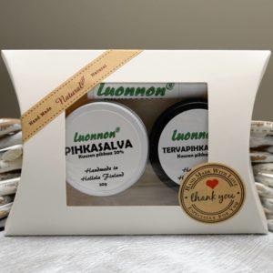 Pihkasalvoja lahjapaketissa | Luonnon Cosmetics Hollola